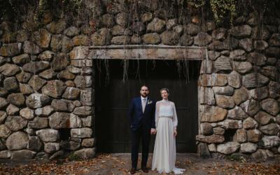 LAUREN & TOM: UN ECO MARIAGE DANS UNE FERME LOCALE